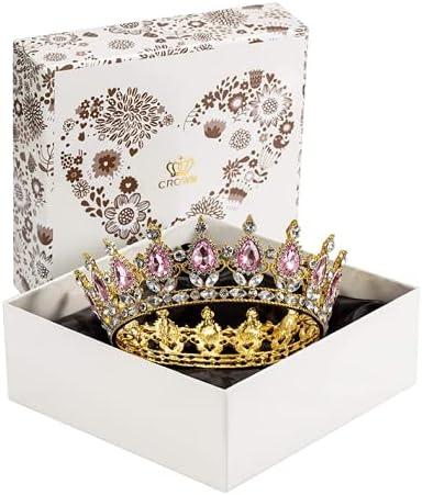 Max 62% OFF JamingHG Rhinestone Cake Branded goods Topper Decoratio Crown Fancy Party