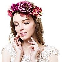 Corona de Ever Fairy® de estilo griego, rústico y natural Flower Crown - A Talla única