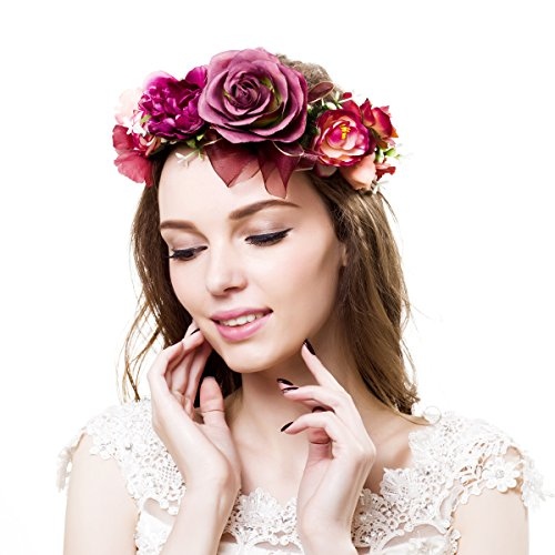 Corona de Ever Fairy® de estilo griego, rústico y natural Flower Crown - A Talla única