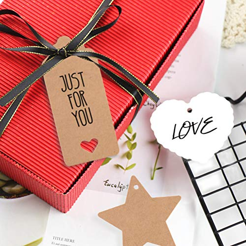 150 PCS Kraft Paper Gift Tags Kraft Hang Tags with String Great as Christmas Gift Tags, Wedding Favor Tags, Birthday Gift Tags, Baby Shower Favor Tags,or Other Place Name Cards. Photo #6