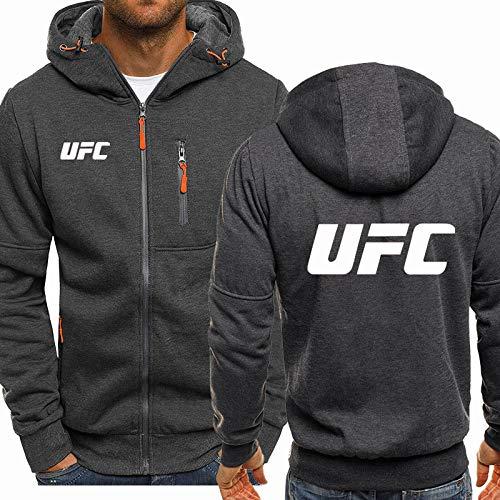 MDDCER Sweat à Capuche Jacket Pull - UFC Imprimé Décontracté