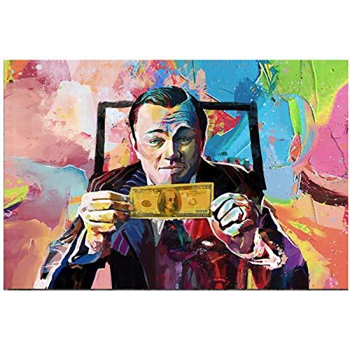 Película El lobo de Wall Street Graffiti Works Protagonista Posters e impresiones promocionales Pinturas de arte interior