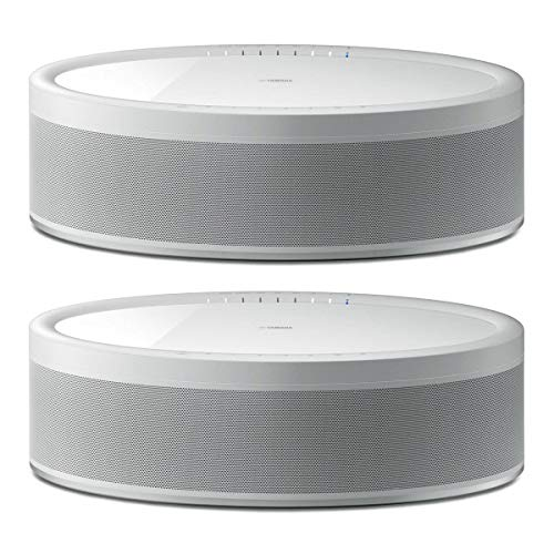 %16 OFF! YAMAHA 2 Pack MusicCast 50 WX-051 70W Wireless Speaker, Alexa Voice Control, White,