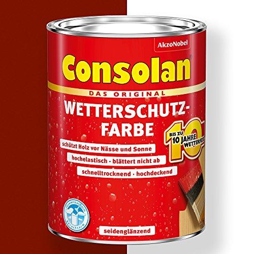 Consolan Wetterschutz-Farbe (2,5 l, schwedenrot)