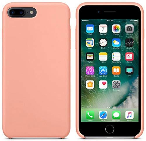 JLFDHR Funda de Silicona Oficial Original para Apple iPhone 7 8 6 6s Plus 5 5s SE Funda para iPhone 6 7 X XS MAX XR Funda de teléfono sin Logo para iPhone 6 6S Plus-Begonia