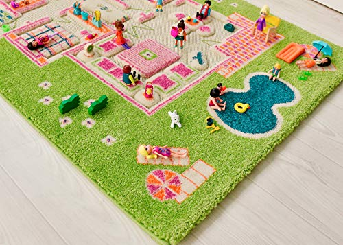 IVI Playhouse 3D Montessori Play Mat, Non-Toxic, Stain Resistant, Educational Activity Toys for Girls
