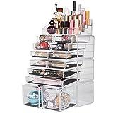 Readaeer Organisateur pour Maquillage Boîte de Rangement Cosmétiques (Transparent)