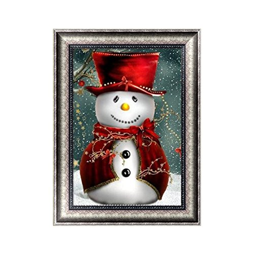 Adarl 5D DIY Diamond Painting Rhinestone Pictures of Crystals Embroidery Kits Arts, Crafts & Sewing Cross Stitch (Christmas I)