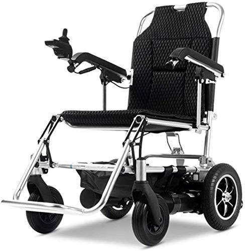 ZOUSHUAIDEDIAN Silla de ruedas eléctrica, potencia plegable portátil Mobility Mobility Rueda de ayuda, multifunción inteligente para silla de ruedas asistida automática, soporte 220 lbs de servicio pe