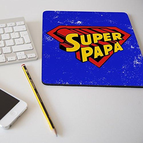 Alfombrilla para ratón regalo original día del padre 'Super papá'