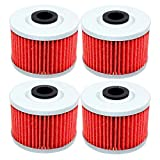 xr650l oil filter - 4 Pack Yerbay Motorcycle Oil Filter for Honda XR650L XR-650L 1993-2016 / XR650R XR 650R 2000-2007 / TRX700XX 2008-2009