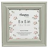 Hampton Frames PALOMA - Cornice portafoto quadrata effetto invecchiato, 13 x 13 cm, colore: Verde salvia