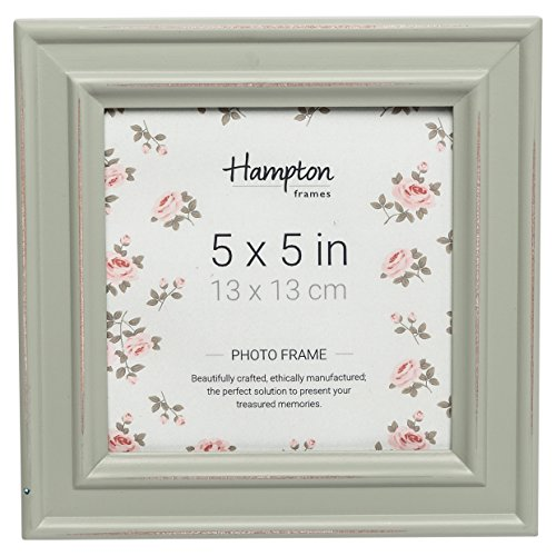 Hampton Frames PALOMA PAL301955S - Marco de fotos cuadrado (5 x 5 cm), color verde salvia