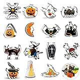 SunAurora 15 Pezzi Formine Biscotti Halloween,Tagliabiscotti Fondente in Acciaio Inossidabile,Stampo per Biscotti Fai Da Te, Tagliabiscotti per Le Halloween