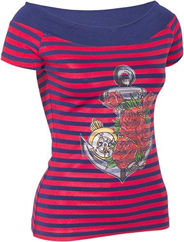 Küstenluder MY ANCHOR Anker Rosen Nautical Sailor CARMEN Shirt Rockabilly - 3