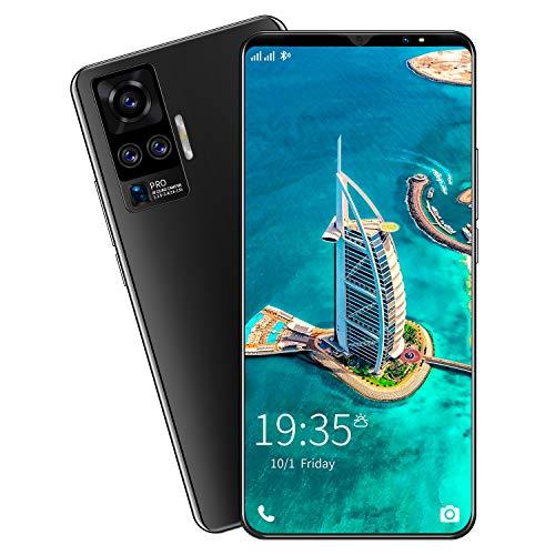 FJYDM Teléfono 4G, Teléfono Celular De 5 Pulgadas, Teléfono Celular con Pantalla De Alta Definición, Teléfono Celular Android 10 Desbloqueado,Negro