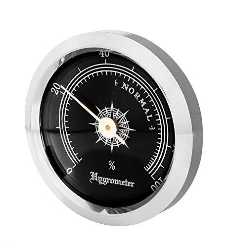 Front-Hygrometer Einbau 35-45mm schwarz inkl. Lifestyle-Ambiente Tastingbogen