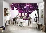 dalinda WALL-ART Slow-Motion - Póster de pared (XXL, efecto 3D, 3,50 x 2,55 m), color violeta