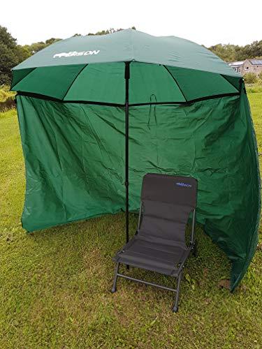 Bison Abri  parapluie inclinable avec fermeture clair...