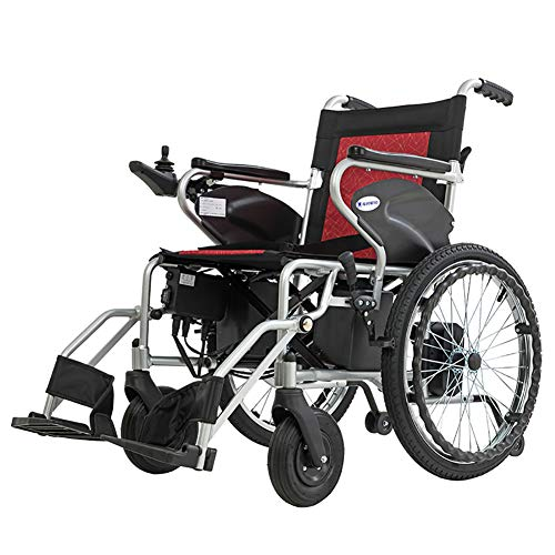 Yao Draagbare elektrische rolstoel, opvouwbaar, aluminiumlegering, 12 Ah, lithium-ion-batterij, accuduur 24 km - 28 kg