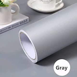 Gray Self-Adhesive Wallpaper SelfAdhesive Film Stick Paper Easy to Apply Peel And Stick Wallpaper Stick Wallpaper Shelf Liner Table and Door Reform 15.75 Inch By 9.8 Feet