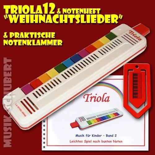 TRIOLA 12 plus NOTENHEFT und NOTENKLAMMER