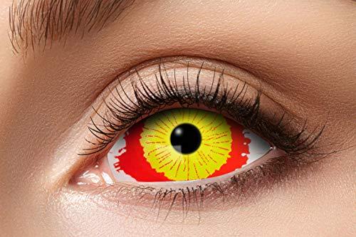 Eyecatcher 84091541.s17 - Farbige Sclera Kontaktlinsen, Beschädigtes Auge, Farblinsen, 6 Monate, weiche Linsen, ohne Sehstärke, 2 Stück, Motivlinsen, Halloween, Karneval, Fasching