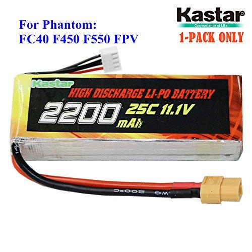 Kastar Battery 11.1V 2200mah 25C XT60 Plug for DJI Phantom 1 FC40 DJI Flame Wheel F450 F550 FPV Quadcopter