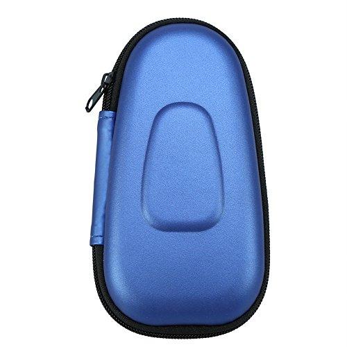 Bolsa protectora de viaje para máquina de afeitar eléctrica, estuche rígido de almacenamiento de EVA Bolsa de transporte para maquinillas de afeitar de barba(azul)