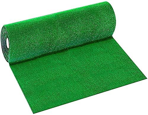 hwljxn Gazon artificiel, tapis de gazon synthétique réaliste, fausse pelouse de haute densité, pelouse de jardin naturelle luxuriante (couleur : 0,5 x 0,5 m)