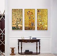古典的なクリムト抽象絵画はキャンバスに印刷します壁アート写真リビングルームの家の装飾のためのポスターアートワーク30x60cmx3pcsフレームなし