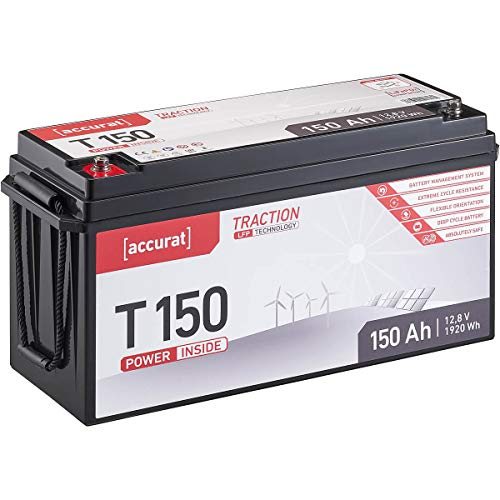Accurat Traction 12V 150Ah LiFePO4 Lithium-Eisenphosphat Versorgungs-Batterie T150 LFP