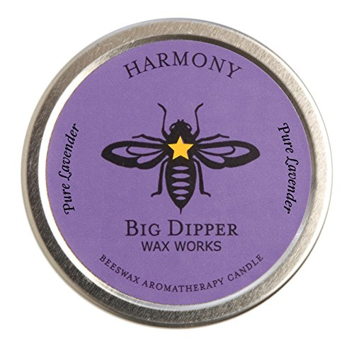 Big Dipper Wax Works Pure Organic Aromatherapy Beeswax Tins - 1.7 Ounces Inc. (Harmony)