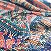 momomus Arazzo Mandala - Indiano - 100% Cotone, Grande, Multiuso - Arazzi da parete grandi - Stampe / Arredamento / Decorazioni per la Casa, Camera da letto o Muro - Telo Xxl, Blu B, 210x230 cm #4