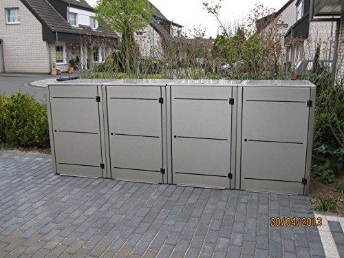 Mülltonnenbox Edelstahl, Modell Eleganza Line3, 120 Liter - 3