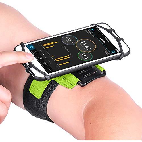 Universal Sportarmband für Smartphones von 4,0 – 7,0 Zoll, Armtasche mit Schlüsselfach, Handy Tasche Grün