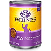 Wellness Complete Health Grain Free Canned Cat Food, Turkey & Salmon, 12.5 Ounces (Pack of 12)