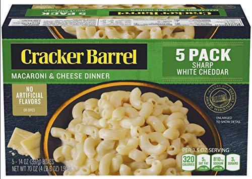 Cracker Barrel Sharp White Cheddar Macaroni amp Cheese Dinner 5 pk | 14 oz Each