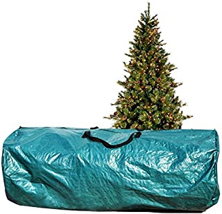 BenefitUSA Heavy Duty Large Artificial Christmas Tree carry Storage Bag Holiday Clean Up to 9' (Green)