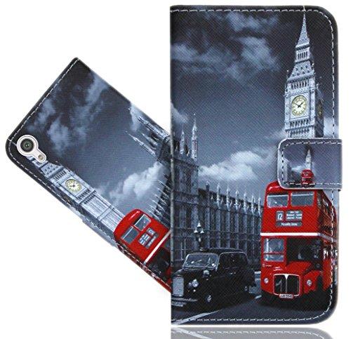 Sony Xperia XA1 Ultra Handy Tasche, FoneExpert® Wallet Hülle Flip Cover Hüllen Etui Hülle Ledertasche Lederhülle Schutzhülle Für Sony Xperia XA1 Ultra