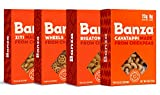 Banza Chickpea Pasta, Variety Pack (Rigatoni/Cavatappi/Ziti/Wheels) - Gluten Free Healthy Pasta, High Protein, Lower Carb and Non-GMO - (Pack of 6)