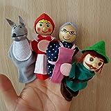 Morza Rotkäppchen Fingerpuppen Baby-pädagogisches Spielzeug 4PCS
