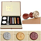 Wax Seal Stamp Kit,Mingting Classical Old-Fashioned Antique Wax Stamp Seal Kit Initial Letters...