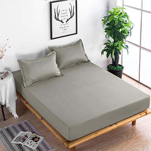 XGguo Protector de colchón Acolchado - Microfibra - Transpirable - Funda para colchon estira hasta Sábana Impermeable cepillada impresión en Color sólido-11_200x220x28cm