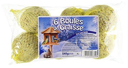 AIME Boules de Graisse pour Oiseaux du Ciel, 6 Pièces (540G)