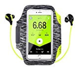 DEALPICK Running Armband, Water Resistant for Smart Phones with Key Slot, Headphone Slot
