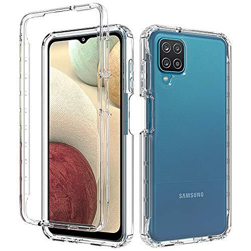 HiCHili Carcasa para Samsung Galaxy A12 5G / M12 360 Protección Funda integral Delantera + Trasera, Rígida, Táctil, Resistente a Los impactos Transparent Silicona Case Cover