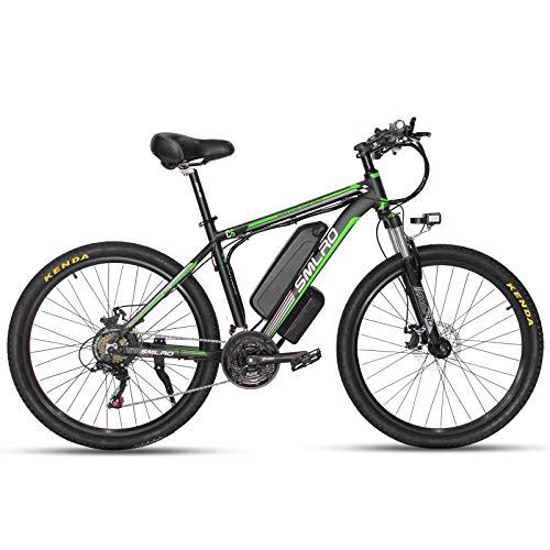 SMLRO Electric Bikes for Adults, 26'' 350/500/1000W Mountain Bike, Aluminum...