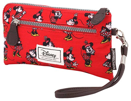 Disney Classic Minnie Cheerful Trousse de Toilette, 21 cm, Rouge (Rojo)