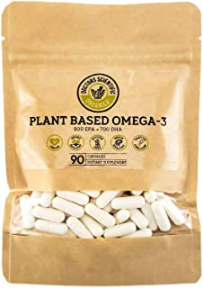DSO Omega 3 Algae Supplement - 90 Capsules - Plant Based Fish Oil Vegan Supplement Alternative EPA & DHA Supplements - Hea...